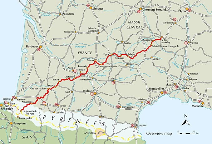 The Way of St James - Le Puy to the Pyrenees: GR65: The Chemin de Saint Jacques International Trekking Idioma Inglés: Amazon.es: Raju, Alison: Libros en idiomas extranjeros