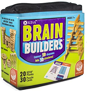 product image for MindWare KEVA Brainbuilders - 3D brain building STEM challenges for boys & girls - Try to build the image - Practice spatial thinking - 20 planks & 30 puzzles