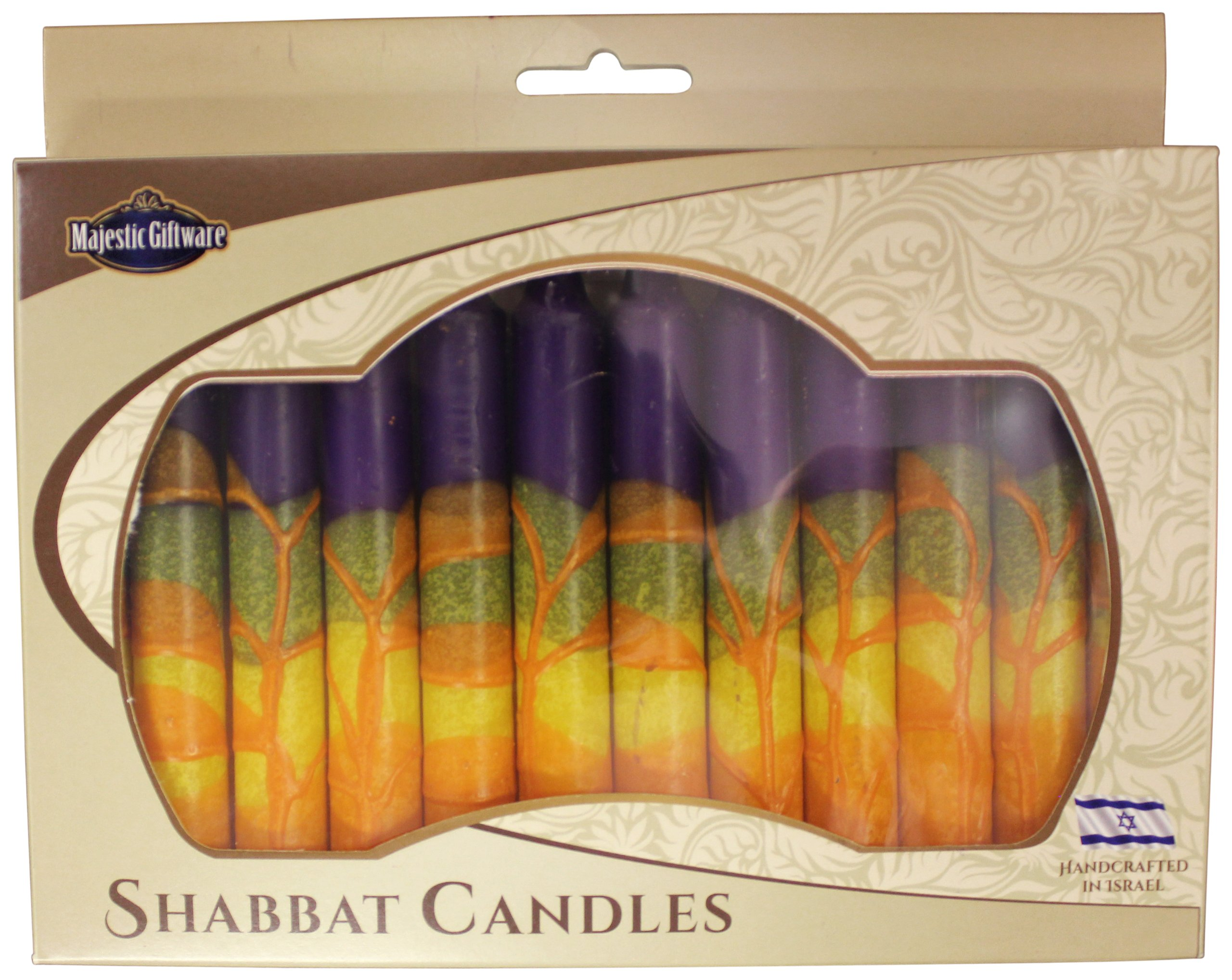 Majestic Giftware SC-SHHR-P Safed Shabbat Candle, 5-Inch, Harmony Purple, 12-Pack