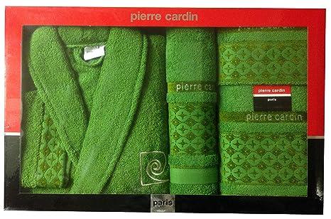 L/XL verde Cirles/cruces Pierre Cardin 4 piezas Albornoz y unidades, Jacquard