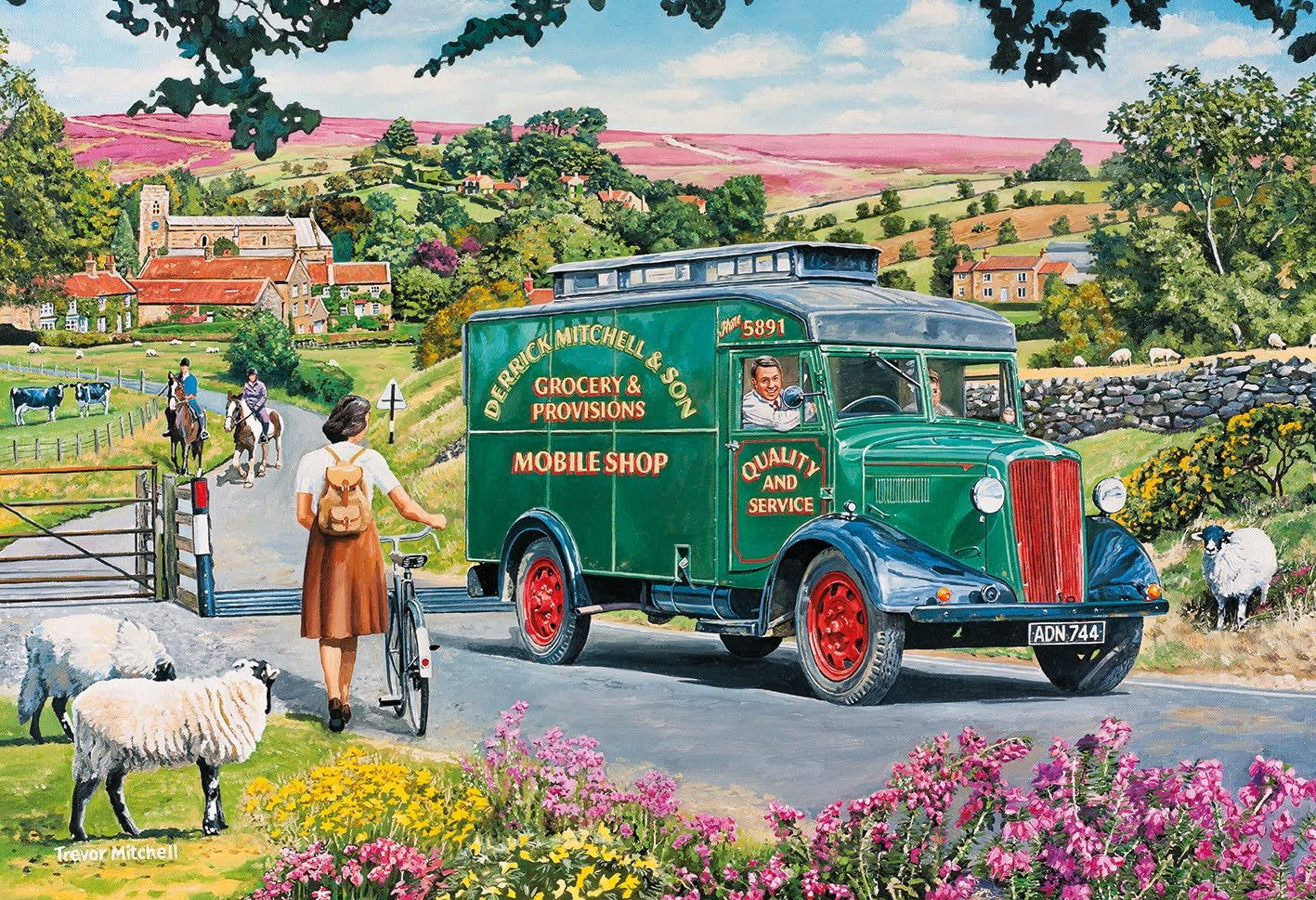 Gibsons Mitchells Mobile Shop Jigsaw Puzzle 4x500 Piece