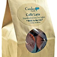 Caffe Latte Scented Soy Tealights 12 Pack Clear Cup Candles