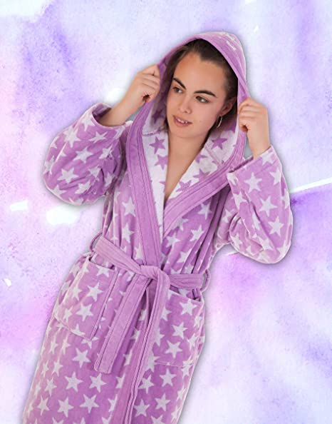 Stilia. Juvenil Dressing Gown for Girls Terry cloth 100% cotton. Ster 10 a 12  años   10 to 12 years old Mauve  Amazon.co.uk  Kitchen   Home a8d51ea07