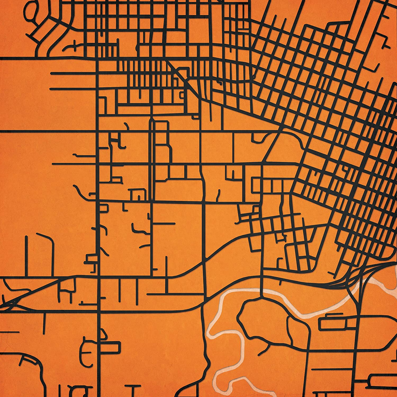 Amazon.com: Oregon State University Campus Map Art, Unframed ...