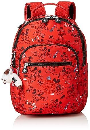 Kipling D SEOULGOS Mochila escolar, 35 cm, 8 liters, Multicolor (Sketch Red): Amazon.es: Equipaje