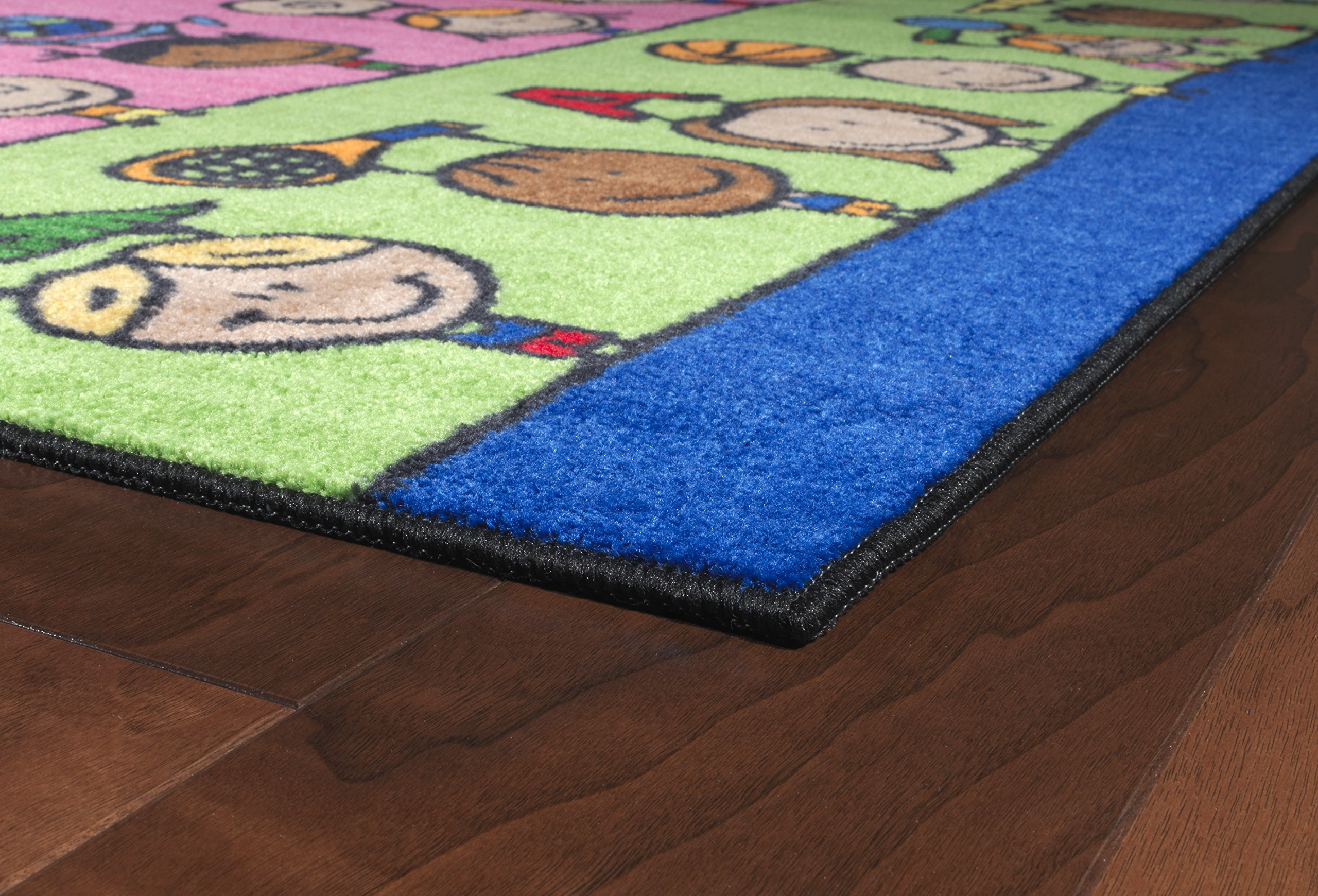 Flagship Carpets CE190-28W Fun at School Rug, Explore Health and Wellness As Well As STEAM Subjects, Children's Classroom Educational Carpet, 5' x 8', 60'' Length, 96'' Width, Multi-Color by Flagship Carpets (Image #13)
