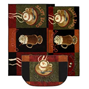 Mohawk Home New Wave Caffe Latte Primary Printed Rug,Set,Brown