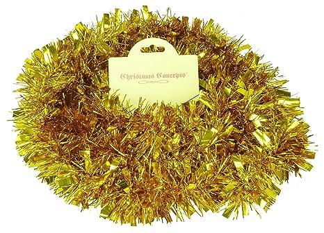 Immagini Natale Oro.Christmas Concepts 2m Grosso Fino Orpello Decorazioni Per L Albero Di Natale Oro