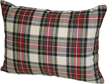 Amazon Com Rennie Rose Dress Stewart Plaid Throw Pillow 12 Inch By 16 Inch Home Kitchen