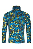 Mountain Warehouse Pursuit Kids Printed Fleece - Breathable, Quick Dry with Antipill Fabric & Lightweight Micro fleece - Perfect for a Layered Outfit