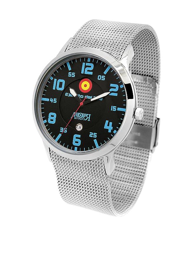 AVIADOR Reloj con movimiento japonés Av-1107 44 millimeters: Amazon.es: Relojes