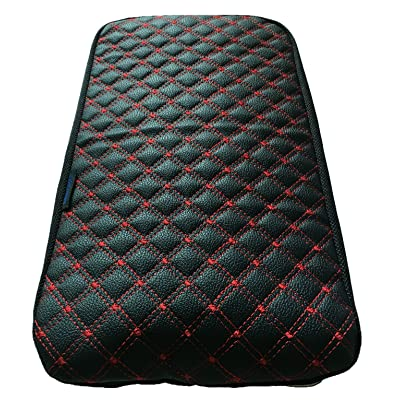 Fit for Honda Civic Center Console Lid Armrest Cover Protector Black & Red: Automotive