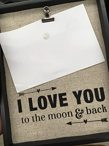 Amazon.com: LOVE YOU TILL THE MOON AND BACK Son, Clip Frame, Photo ...