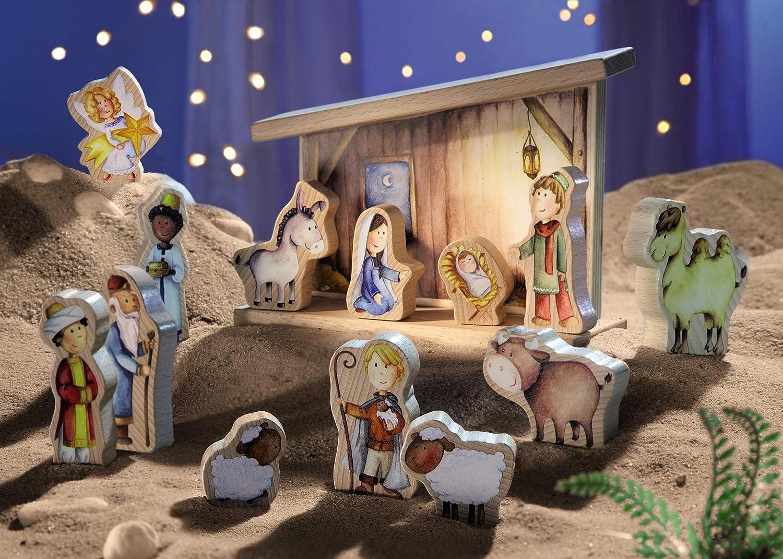Weihnachtsgeschichte HABA 5296 Spielkrippe