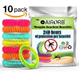 Mosquito Repellent Bracelet 10 PACK - Citronella All Natural DEET Free Anti Insect Bands - KEEP AWAY MIDGES - Our Waterproof Outdoor Bug Repeller Wristbands Are Safe For Children - Buy 2 FREE delivery