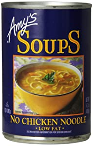 Amy's No Chicken Noodle Soup, Vegan & Non GMO, 14.1 Ounce, Pack of 12