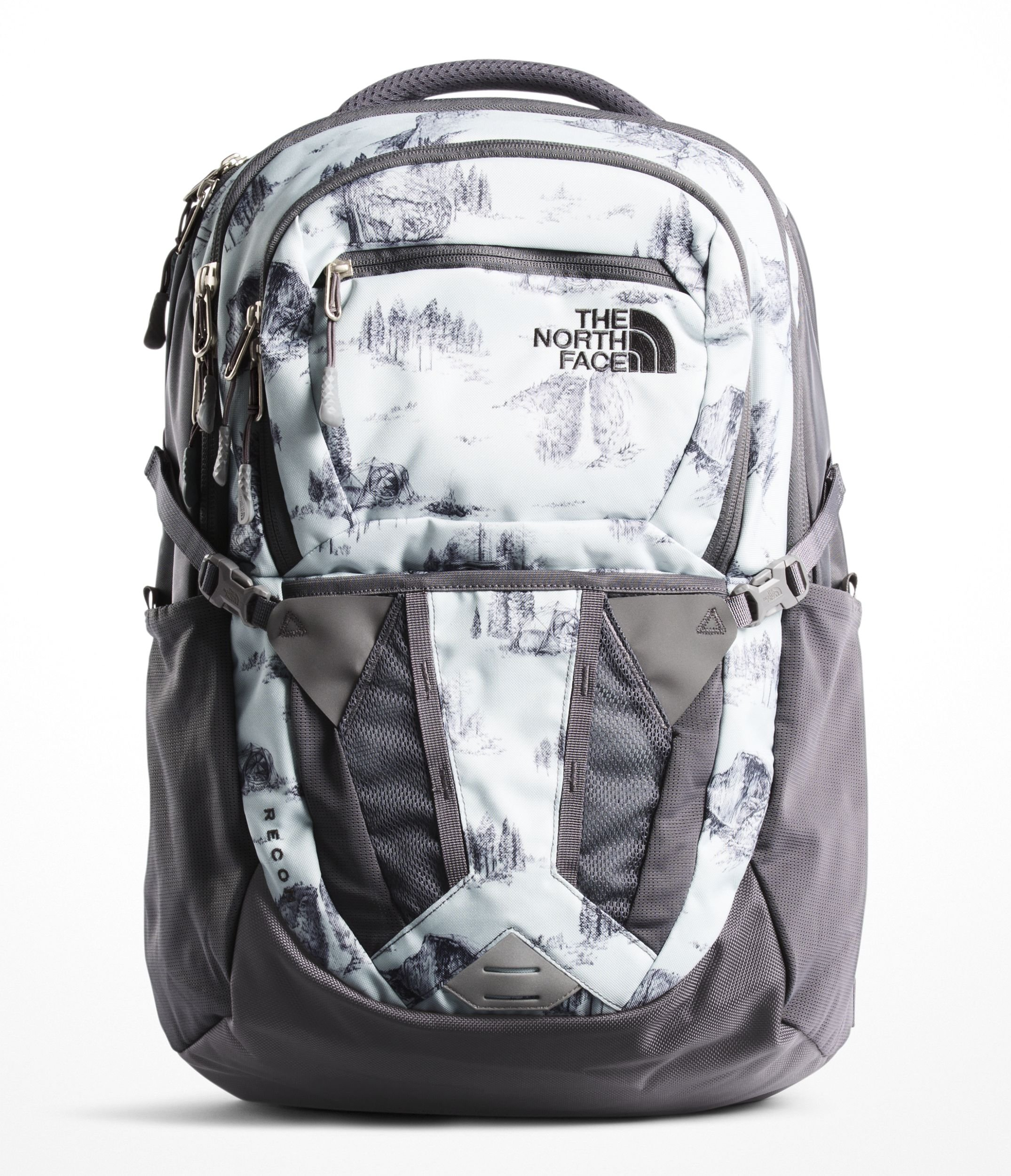 56045d0c7b Galleon - The North Face Women s Recon Backpack - Rabbit Grey Yosemite  Toile Print   Rabbit Grey - OS