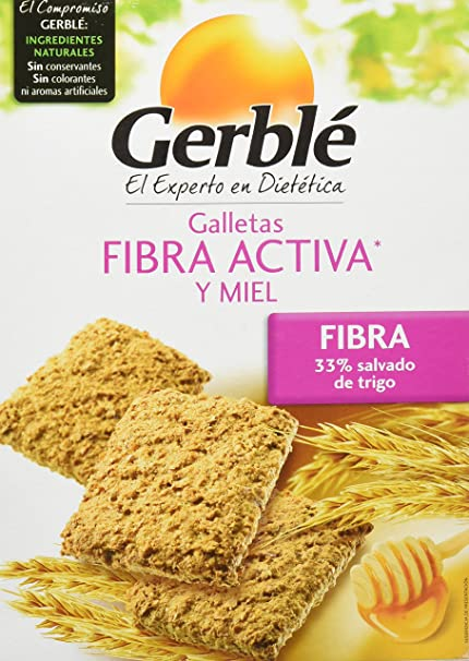 Galletas Fibra Activa y Miel Gerblé - 400 g: Amazon.es ...