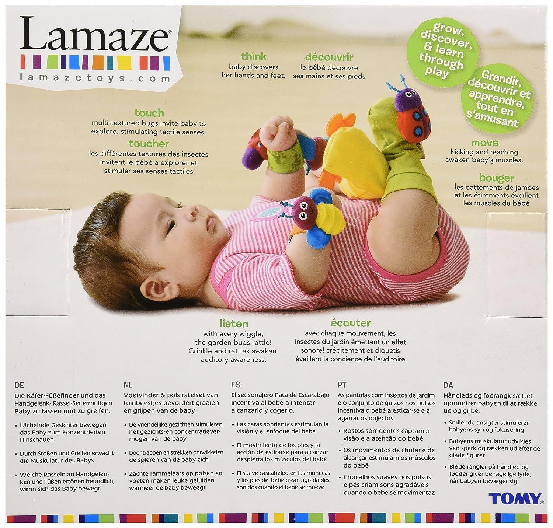 Lamaze - Sonajeros para muñeca y calcetines insectos (TOMY LC27111)