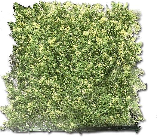 Seto de sapin y cipreses, 1m², con Presilla para Fijar el seto, Seto Artificial a Medida, 100% PVC, ocultación Fuerte, Color Verde Oscuro/Verde Claro 100 x 15 x 100 cm: Amazon.es: Jardín