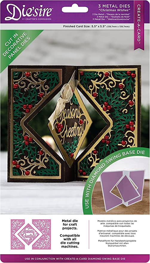NEW Diesire Range Crafter/'s Companion Die/'sire CHRISTMAS KINETIC Create a Card