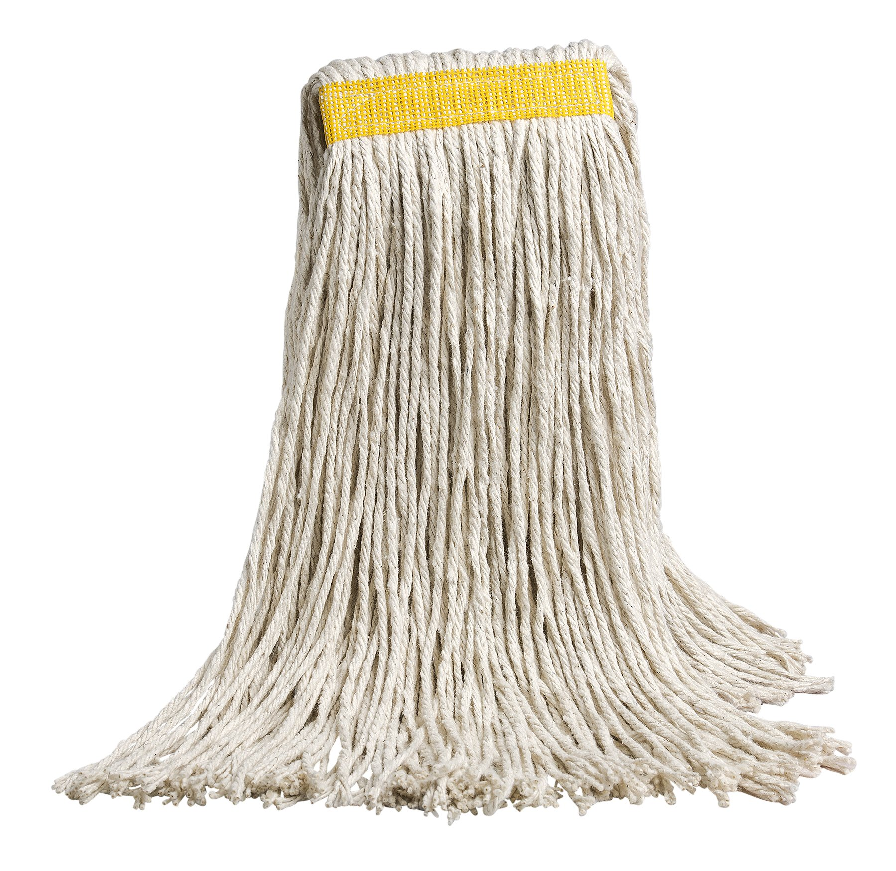 M2 Professional Cotton 24oz Cut-End Mop Replacement Head, 1.5'' Headband - Case of 12 - For Industrial, Commercial & Home use, Hardwood, Tile, Ceramic, Concrete. Etc.