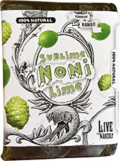 product image for Sublime Noni Lime all natural glycerin BAR SOAP Noni Spirulina Kukui