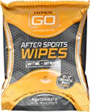HyperGo After Sports Wipes, Full Body Wipes, Unscented, Hypoallergenic, All Natural Ingredients, Biodegradable (20 Wipes in Resealable Package) (1 Pack)