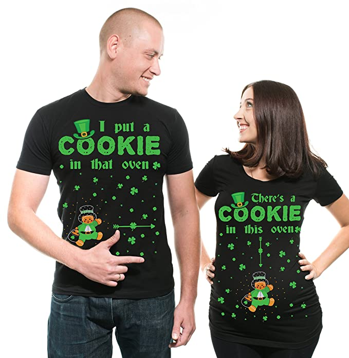 Silk Road Tees Camiseta de Embarazo de Las Mujeres St Patrick Camisas de los Pares del Partido del Día de Camiseta de Maternidad del arroz del Día Camisas: ...
