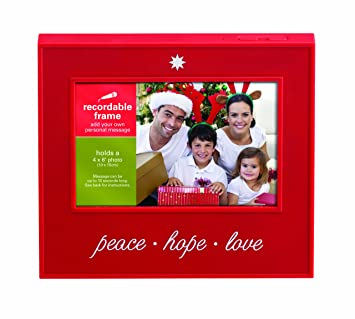 prinz 6 inch by 4 inch recordable frame holiday