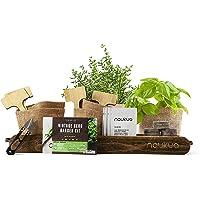 Mini Huerto Urbano Vintage de Plantas Aromáticas y Culinarias (Tomillo Albahaca Perejil y Cilantro) - Semillas Orgánicas…