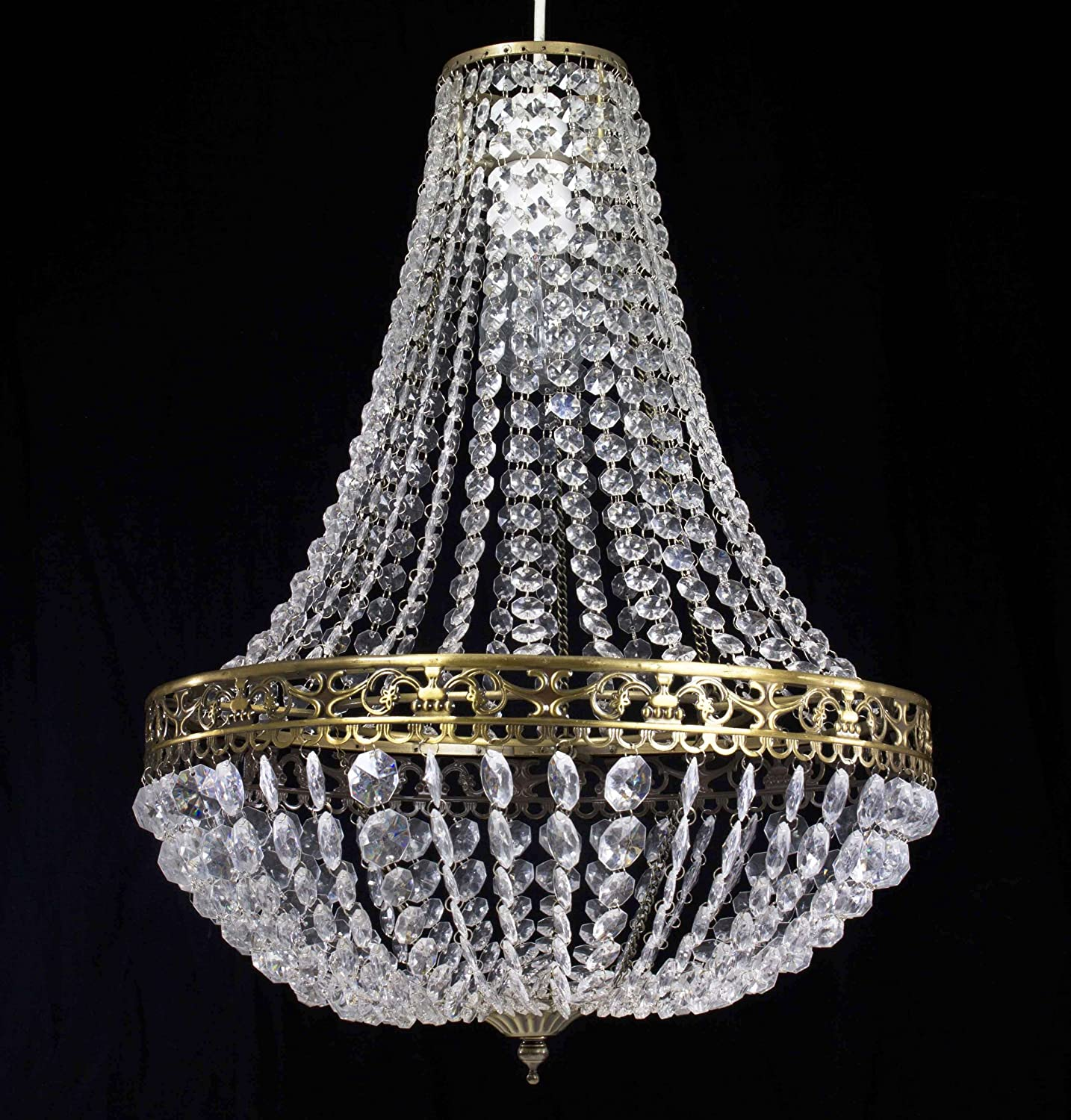 Chandelier Style Clear Acrylic Antique Brass Ceiling Light Shade Easy Fit Pendant & Chandelier Style Clear Acrylic Chrome Ceiling Light Shade Easy Fit ... azcodes.com