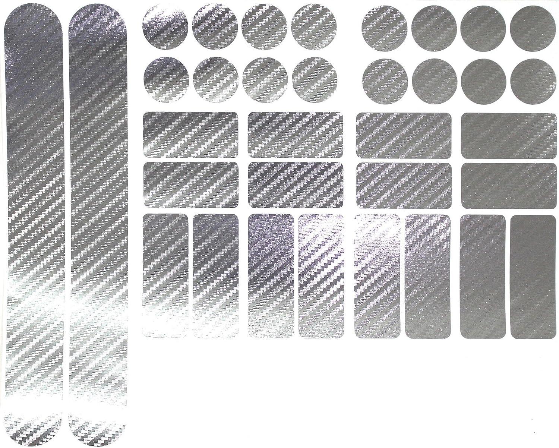 Adesivi per bicicletta e mountain bike BMX pellicola in carbonio funzione protettiva del telaio trasparente