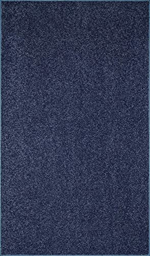 Home Cool Solid Colors Wind Dancer Collection Area Rugs Petrol Blue – 5 x7