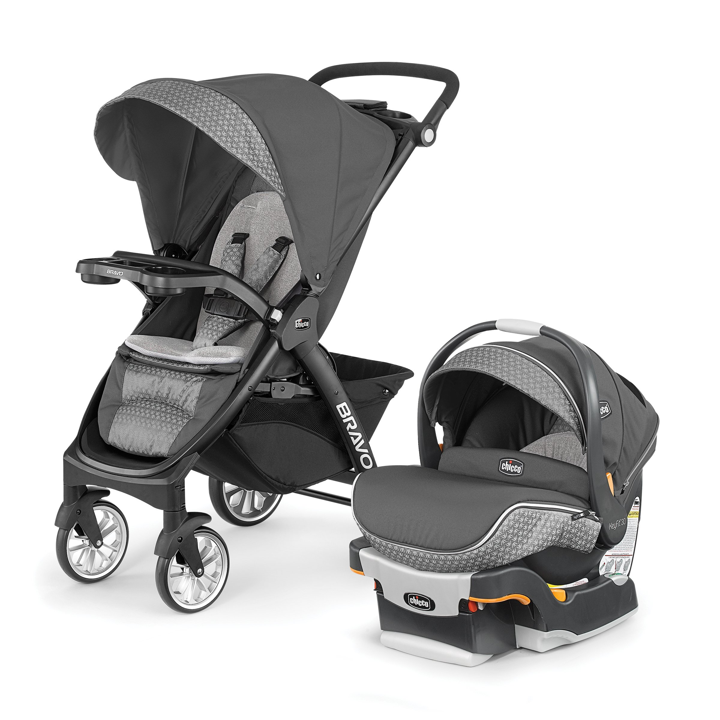 Chicco Bravo LE Trio Travel System, Silhouette by Chicco