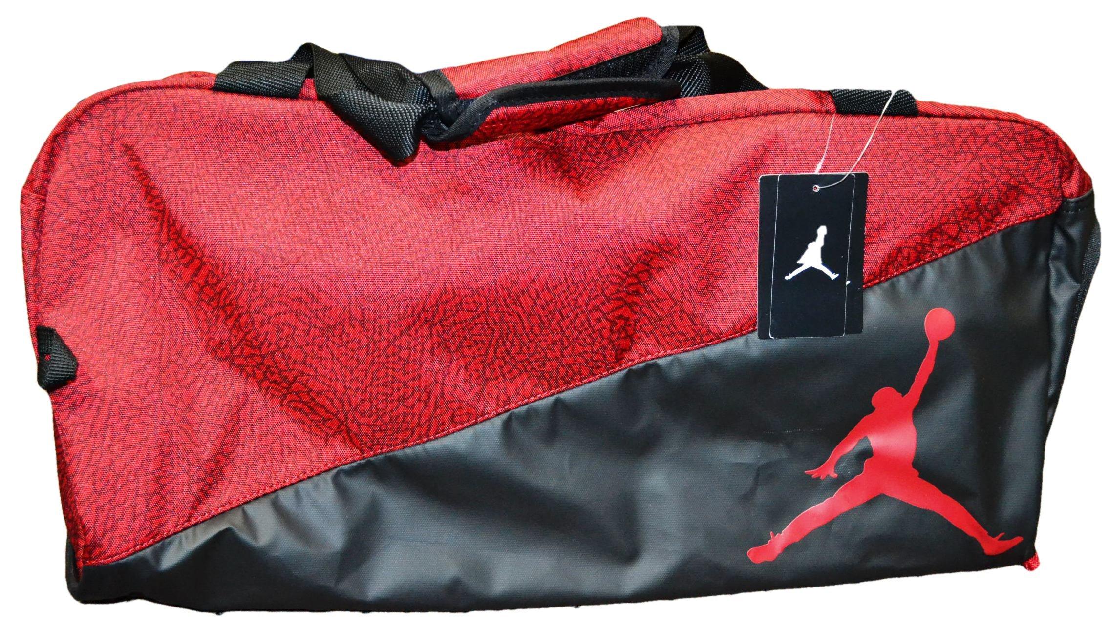 Nike Jumpman Jordan Duffel Bag (Red and Black with Red Logo)