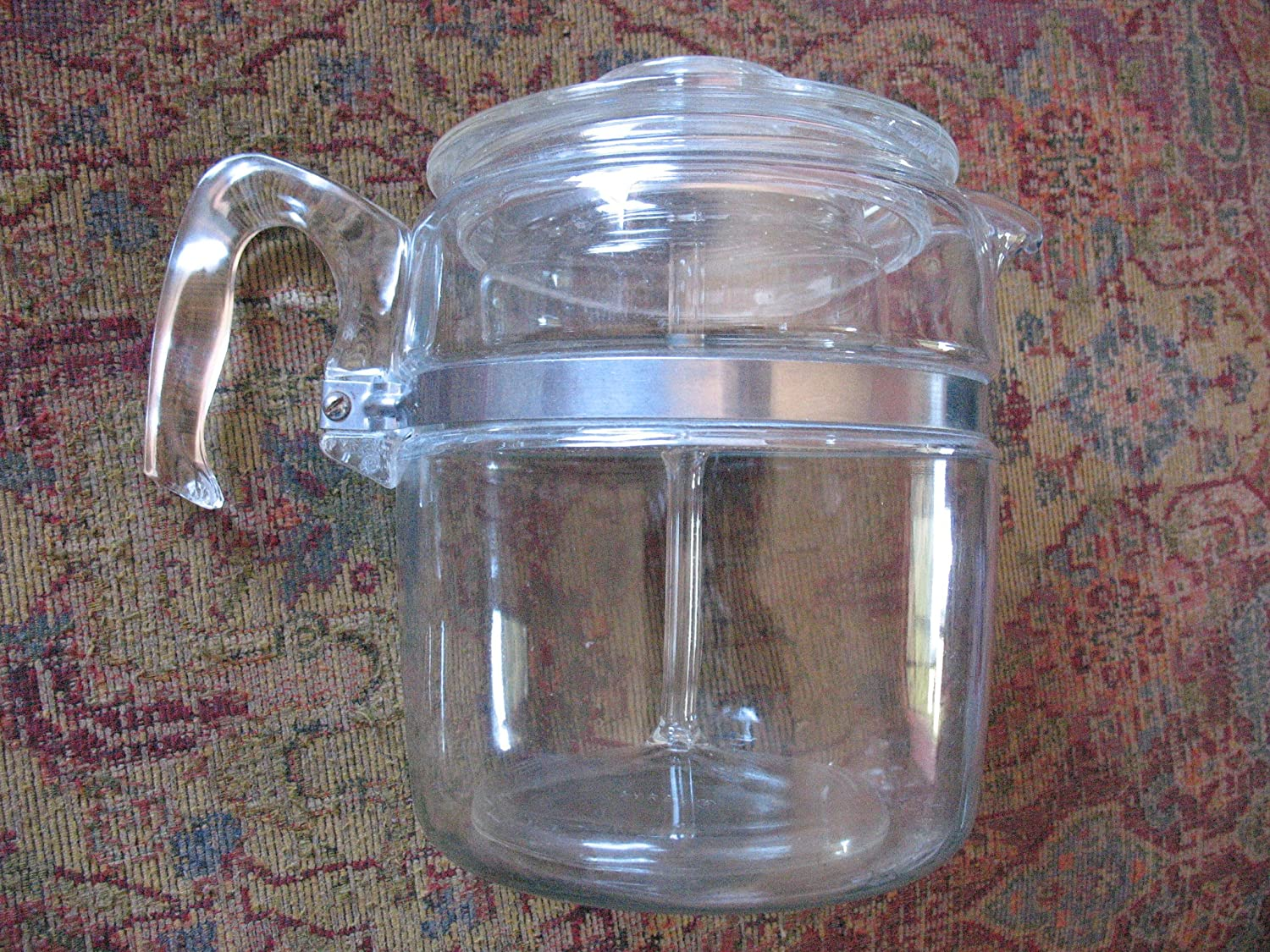VINTAGE Corning Pyrex Flameware 9 cup Percolator Coffee Pot