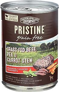 Castor & Pollux Pristine Grass-Fed Beef, Pea Carrot Stew Dog Food, 12.7 OZ