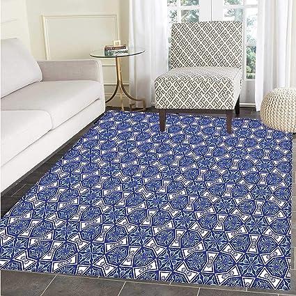 Amazon Com Turkish Pattern Area Rug Carpet Blue And White