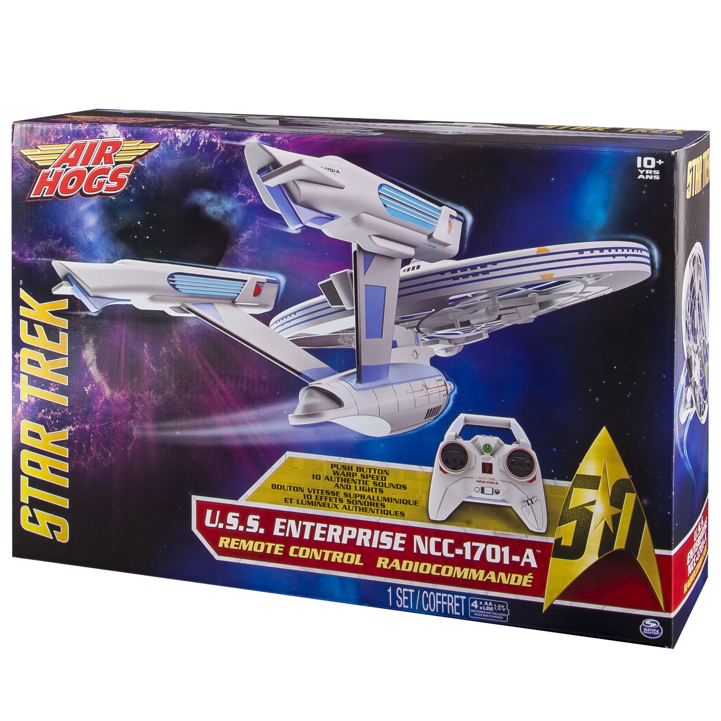 Air Hogs, Star Trek U.S.S Enterprise NCC-1701-A, Remote Control Drone with Lights and Sounds, 2.4 GHZ, 4 Channel by Air Hogs (Image #6)