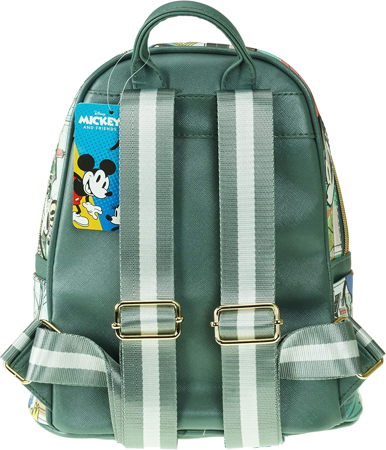 A20520 Mickey Mouse and Friends 11 Faux Leather Mini Backpack