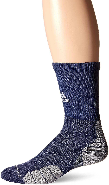 adidas Traxion Menace Basketball/Football Crew Socks (1-Pack) Agron Socks 104782-P
