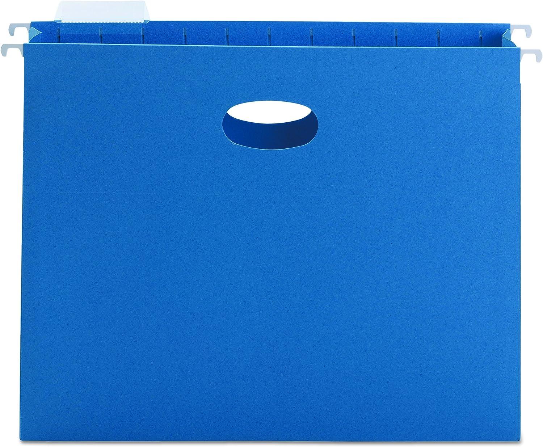 Sky Blue 2-Inch Expansion 25 Per Box Letter Smead Hanging Pocket 64250