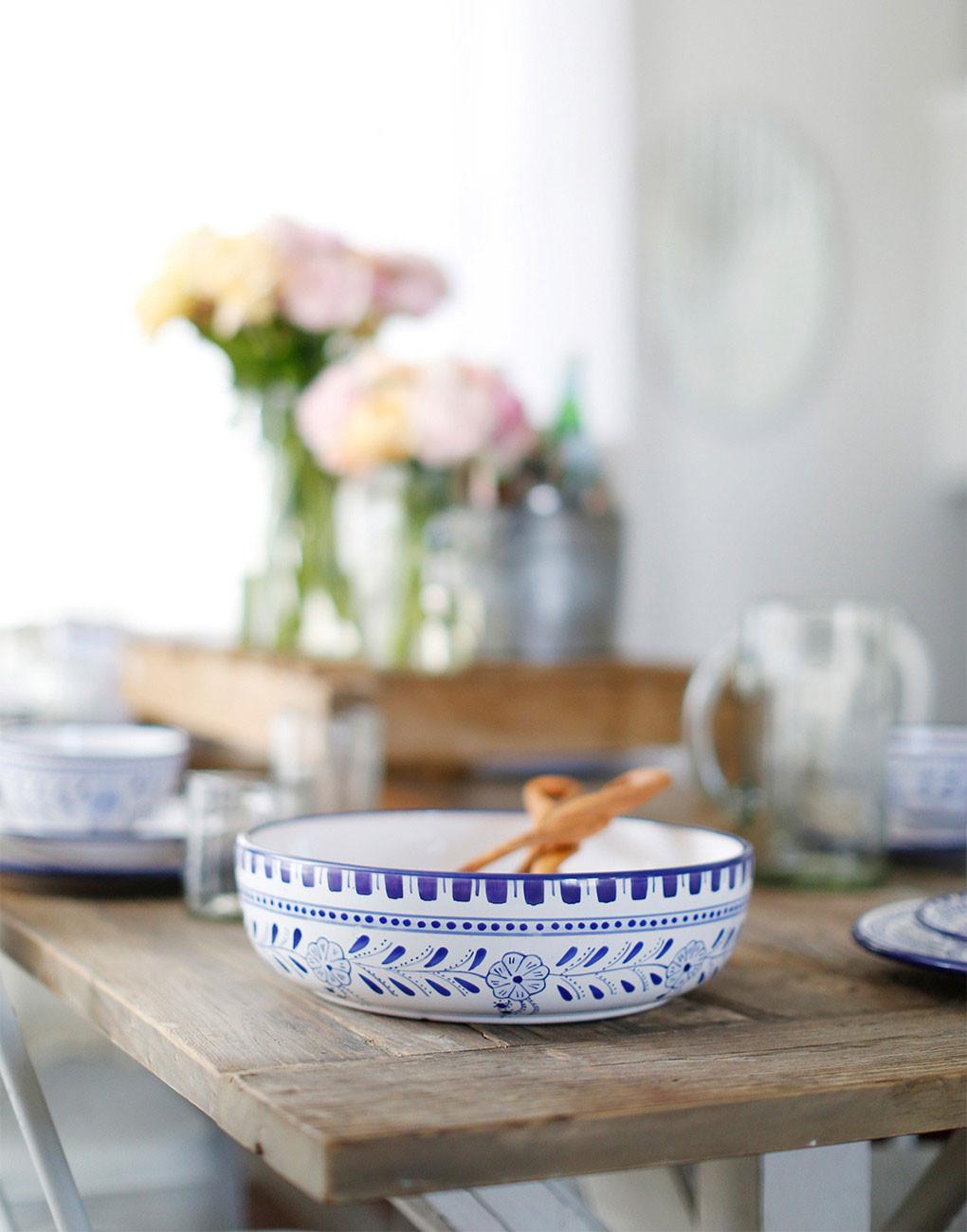 Floral Low Bowl – The Little Market
