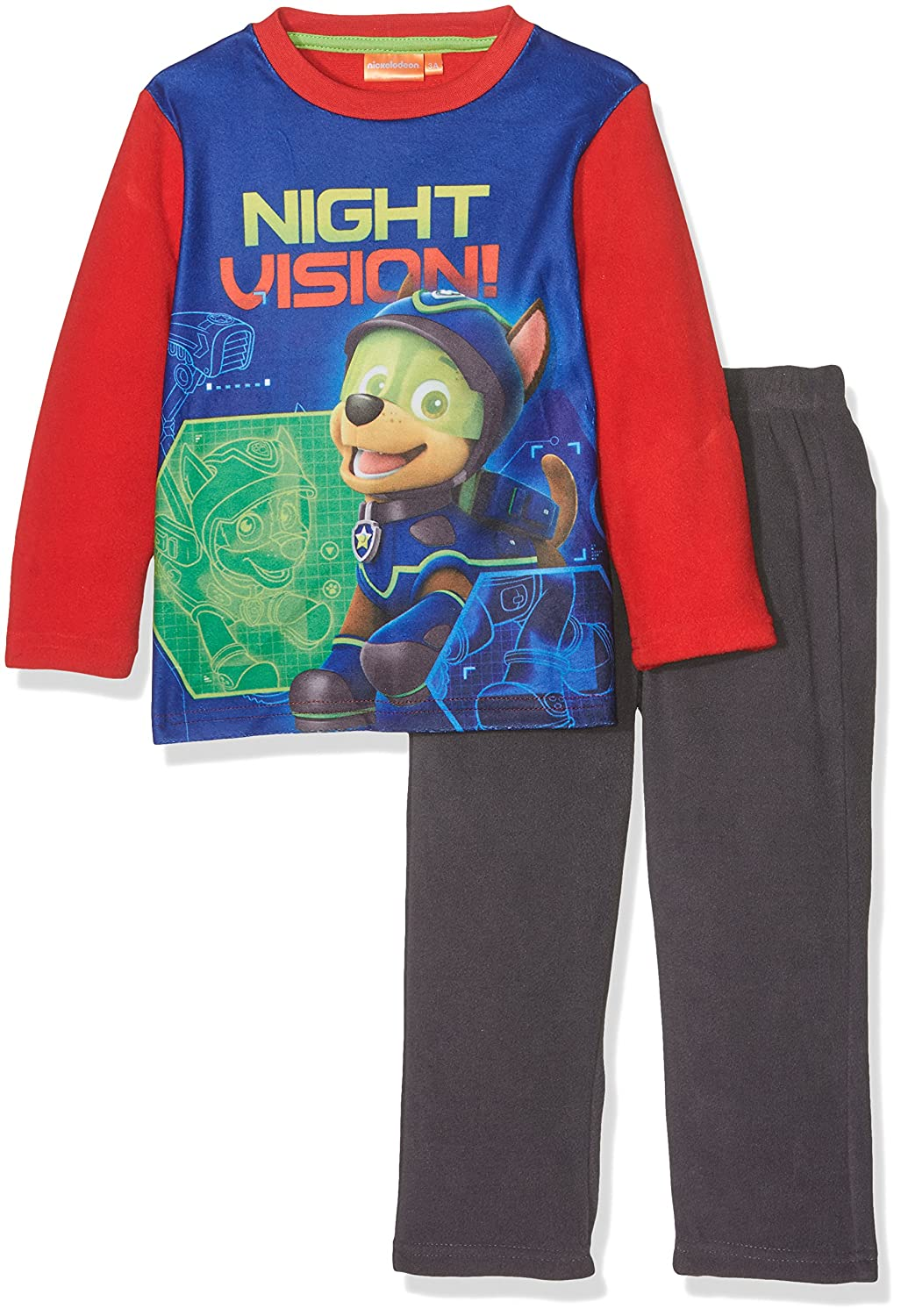 Paw Patrol Chase and and Marshall Night Vision Fleece Pyjama Set New 2017-2018 PAW PATROL BOYS