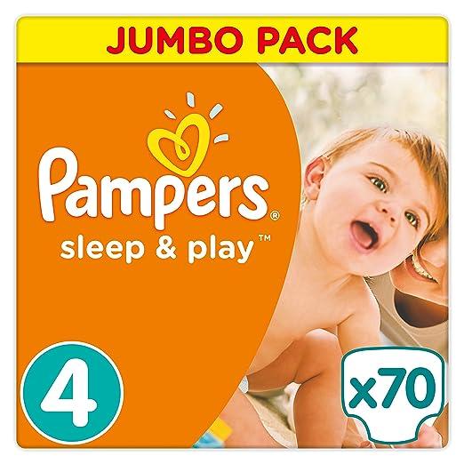 7 opinioni per Pampers Sleep e Play dimensioni 4Jumbo, confezione 70pezzi
