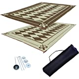 RV Patio Mat Awning Mat Outdoor Leisure Mat 9x18 Diamond Complete Kit