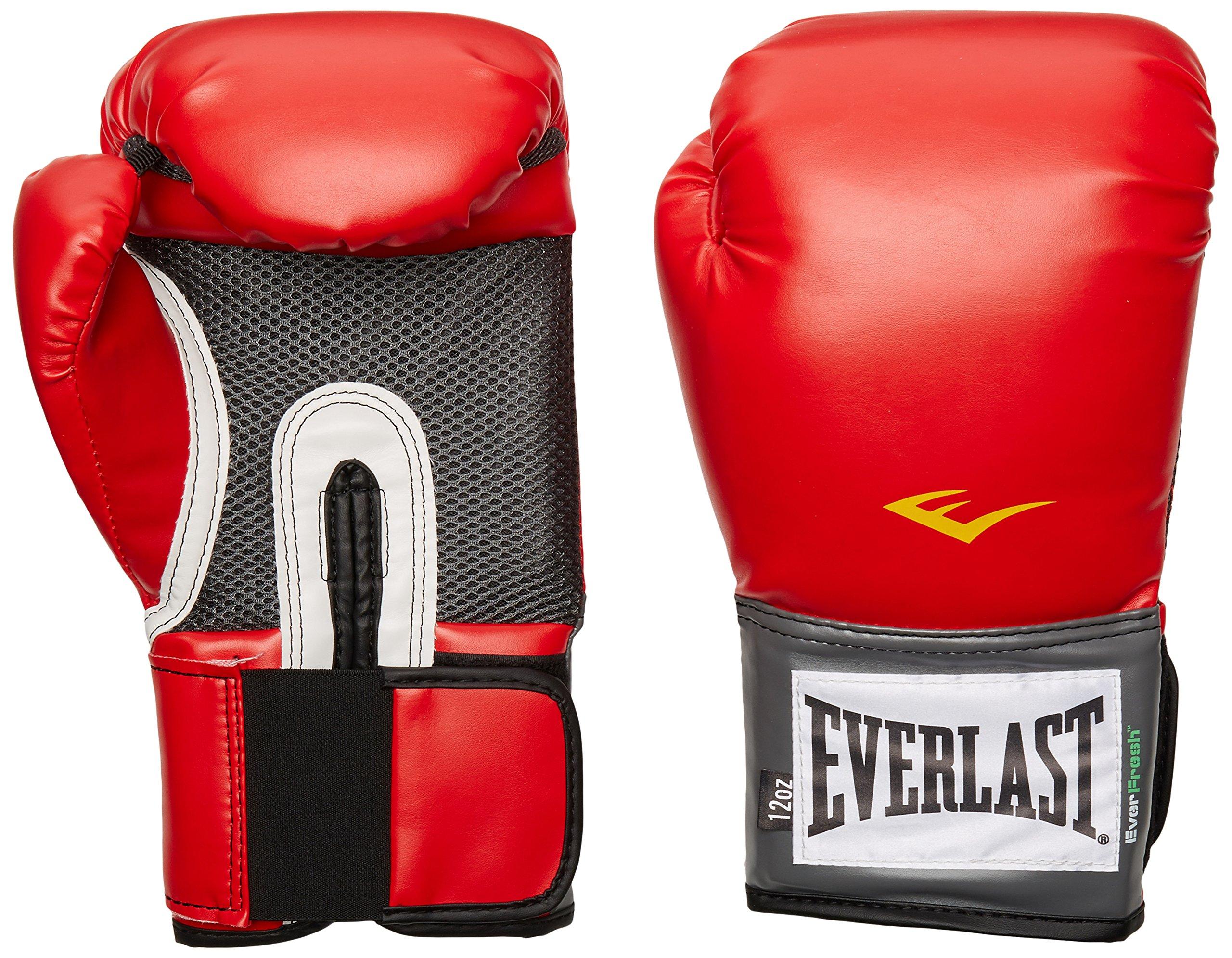 Everlast Pro Style Training Gloves (Red, 12 oz.)