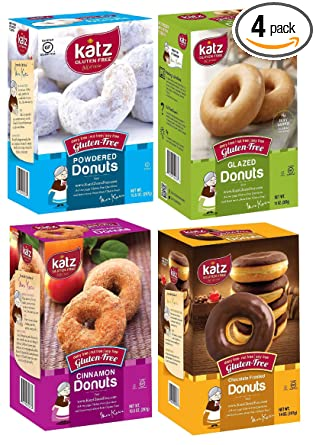 Katz sin gluten Donuts Variety Pack 1 en polvo, 1 Canela, 1 ...