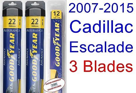 2007 – 2015 Cadillac Escalade hoja de limpiaparabrisas de repuesto Set/Kit (Goodyear limpiaparabrisas